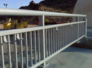 The hand rail get baked by the Nevada sun, kicked, touched and banged. SPI coatings were the perfect match to handle these difficult circumstances.